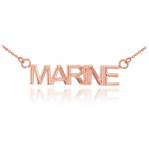 14K Rose Gold MARINE Necklace