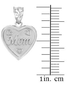 3pc Sterling Silver 'Mom' 'Big Sis' 'Little Sis' Heart Pendant Set