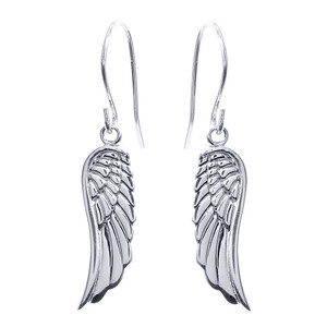 Sterling Silver Angel Wings Earrings