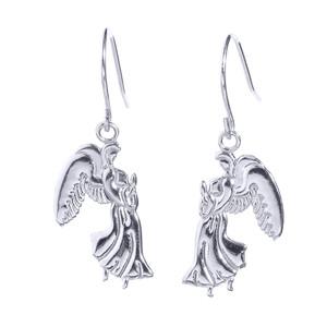 Sterling Silver Praying Angels Earrings