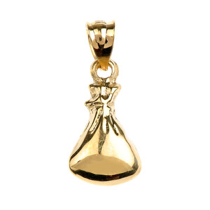 Gold Baby Sleep Sack Charm Pendant Necklace