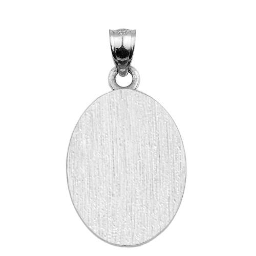 Mens Engravable Silver Cross Necklace