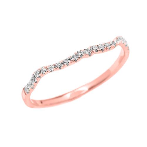 Rose Gold Diamond Dainty Matching Wedding Band