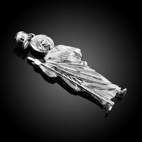 925 Sterling Silver Saint Jude Large Pendant