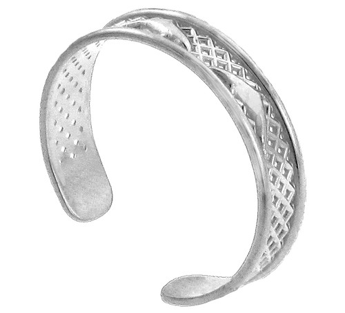 White Gold Dolphin Toe Ring