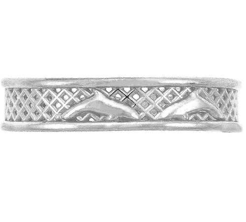 Silver Dolphin Toe Ring