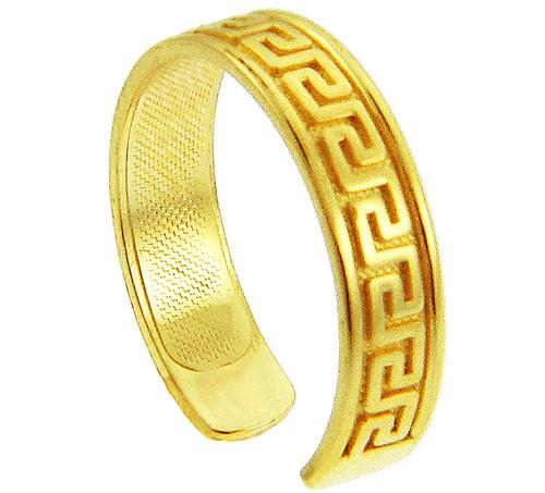 Yellow Gold Greek Key Toe Ring