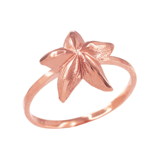 Dainty Rose Gold Starfish Ring