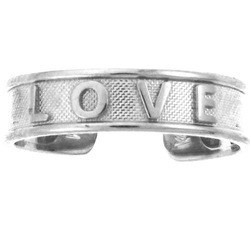 White Gold LOVE Toe Ring