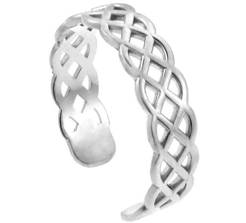 White Gold Trinity Knot Toe Ring
