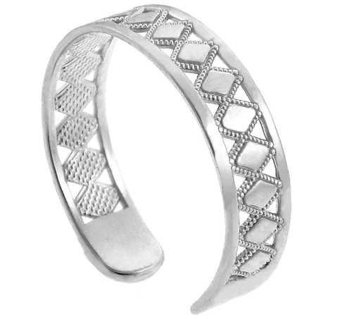 Silver Puzzle Toe Ring