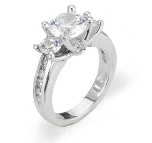 Ladies Cubic Zirconia Ring - The Valencia Diamento