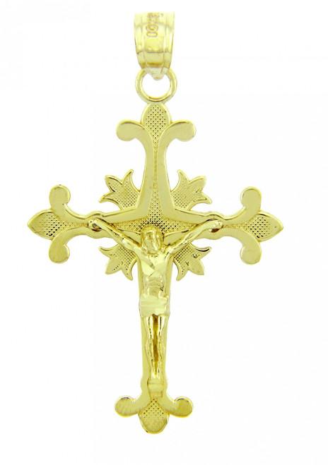 Yellow Gold Crucifix Pendant - The Atonement Crucifix