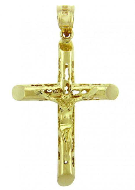 Yellow Gold Crucifix Pendant - The Endless Crucifix