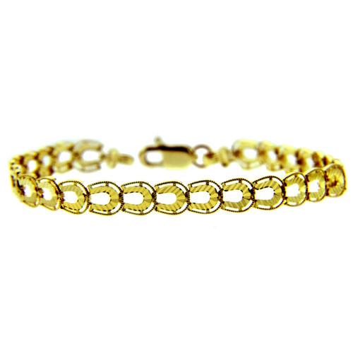 Yellow Gold Bracelet - The Horseshoe Bracelet