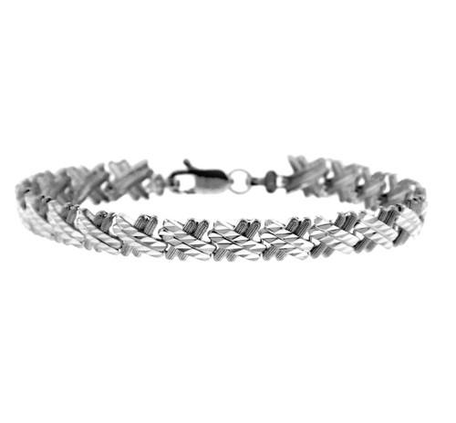 White Gold Bracelet - The Baguette Bracelet