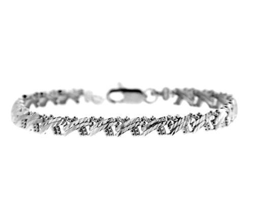 White Gold Bracelet - Criss-Cross Bracelet