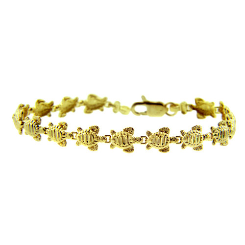 Yellow Gold Bracelet - The Turtle Bracelet