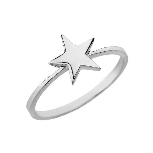 Sterling Silver Star Stackable Ring