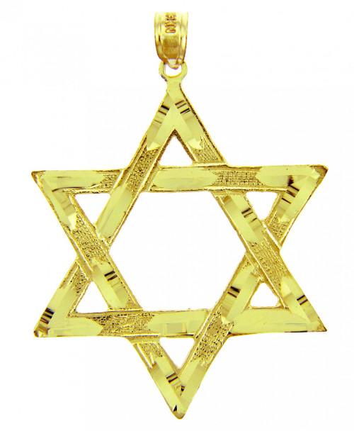 Jewish Charms and Pendants - Large Gold Star of David Pendant