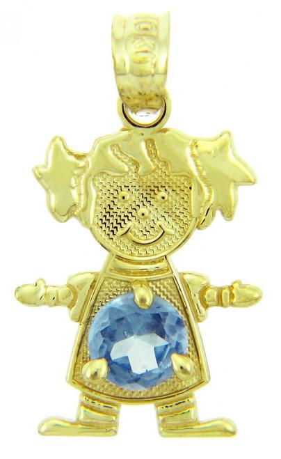 CZ Blue December Birthstone Charm