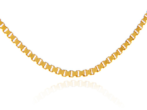 Gold Chains: Box Link Yellow Gold Chain .67mm