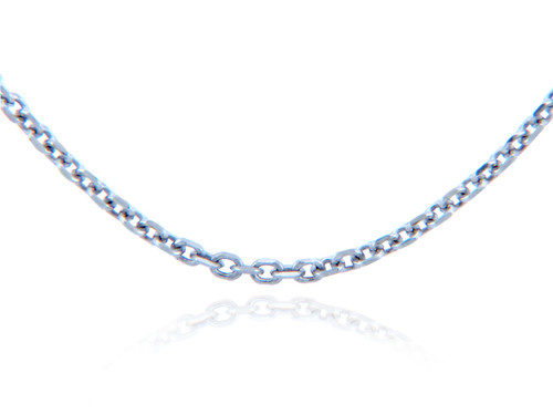 Gold Chains: Rolo Cable White Gold Chain 1.38mm