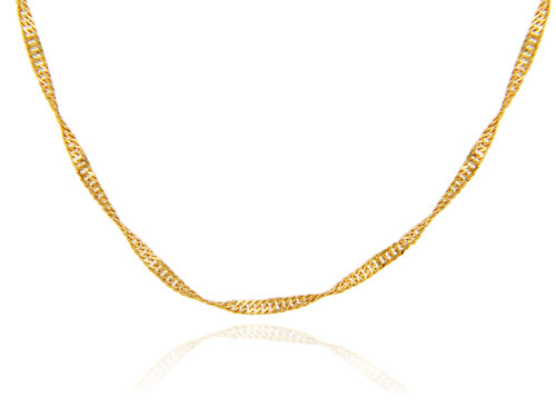 Gold Chains: Singapore Gold Chain 0.25mm