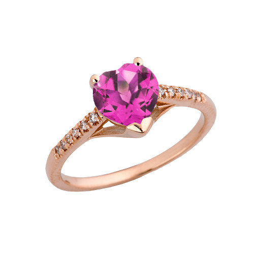 Alexandrite (LCAL) & Diamond Engagement and Proposal Ring in Rose Gold