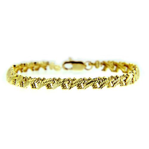 Yellow Gold Bracelet - The Criss-Cross Bracelet