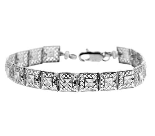 White Gold Bracelet - The Alia Bracelet