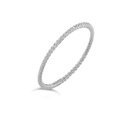 Dainty Thin Rope Ring in White Gold