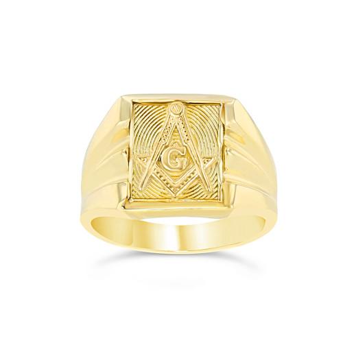 Yellow Gold Masonic Ring