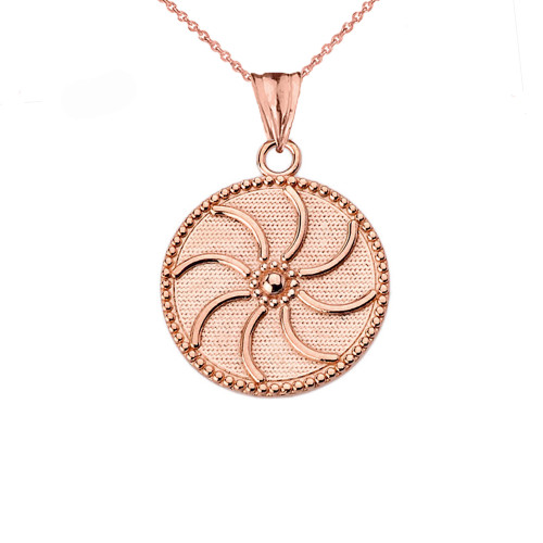 "Armenian Eternity (0.80"") Pendant Necklace in Rose Gold"