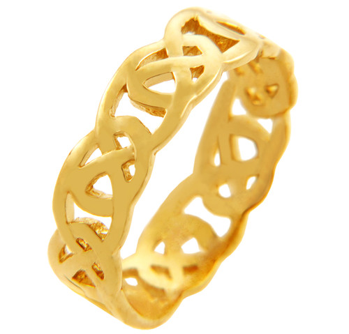 Yellow Gold Quadrum Trinity Mens Ring Band