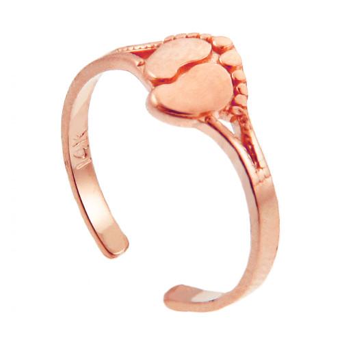 Rose Gold Footprint toe Ring