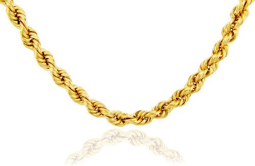 Gold Chains: Rope Ultra Light Diamond Cut 10K Gold Chain 2.5mm