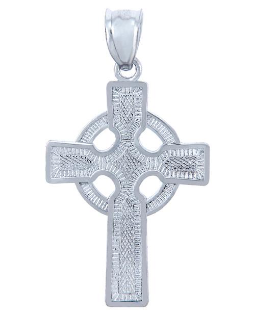 Sterling Silver Cross Celtic Pendant