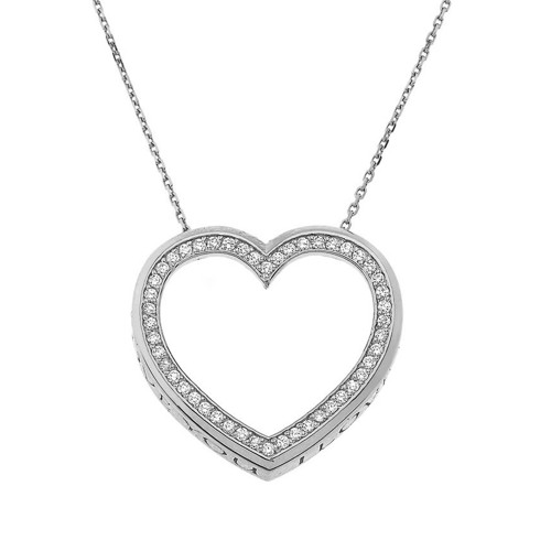 "Valentine's Heart ""I LOVE YOU"" Necklace in Sterling Silver (0.75"")"