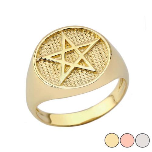 Pentagram Ring in Gold (Yellow/Rose/White)