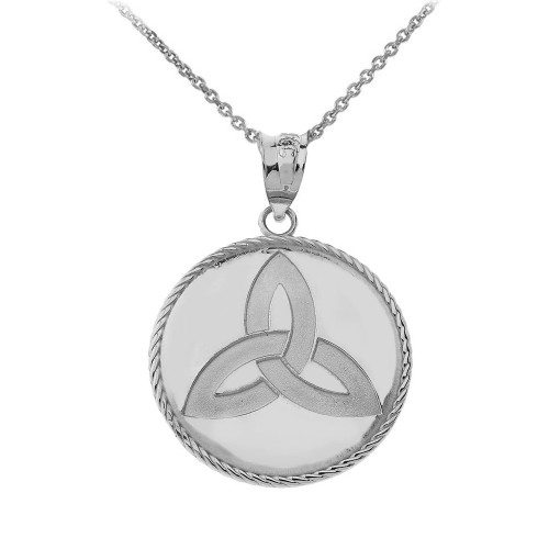 Celtic Trinity Knot Pendant Necklace in Sterling Silver
