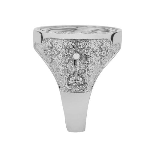 Armenian Eternity  Ring in Sterling Silver