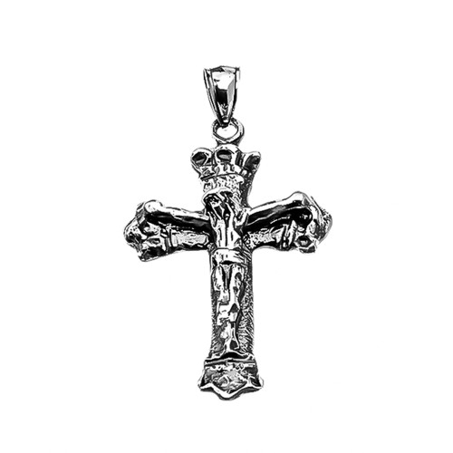 Vintage Antique look Crucifix Cross Pendant Necklace