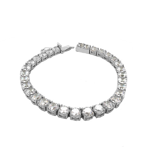 High Quality Tennis Bracelet With 30cts Cubic Zirconia  In Sterling Silver