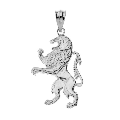 Lion of Judah Pendant Necklace in Sterling Silver