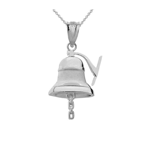 Sterling Silver Bell Pendant Necklace