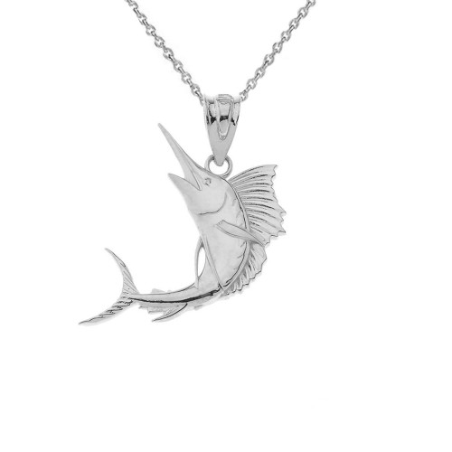 Sterling Silver Swordfish Pendant Necklace