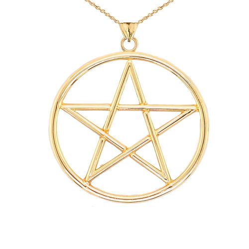 XL Pentagram Pendant in Gold (Yellow/Rose/White)