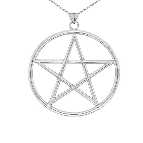 XL Pentagram Pendant in Sterling Silver