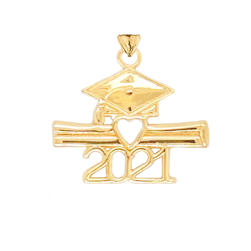 Details about  /10k Rose Gold 2021 Graduation Diploma with Birthstone CZ Pendant Necklace